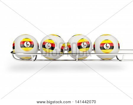 Flag Of Uganda On Lottery Balls
