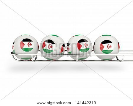 Flag Of Western Sahara On Lottery Balls