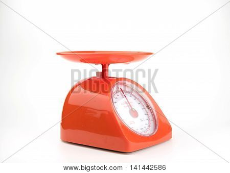 orange weight scale Machine with clipping path