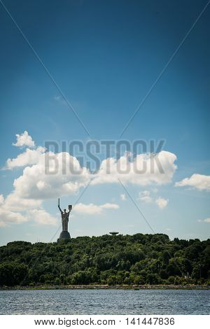 Mother of the Motherland monument in Kiev Ukraine. It's a monumental statue in Kiev the capital of Ukraine.