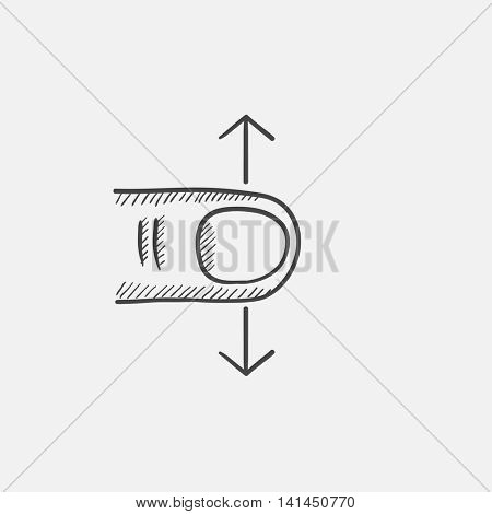 Scroll sketch icon for web, mobile and infographics. Hand drawn vector isolated icon.