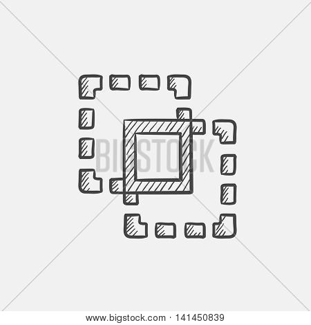 Crop sketch icon for web, mobile and infographics. Hand drawn vector isolated icon.