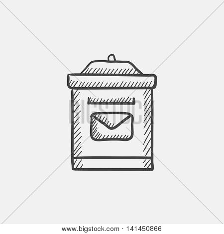 Mail box sketch icon for web, mobile and infographics. Hand drawn vector isolated icon.