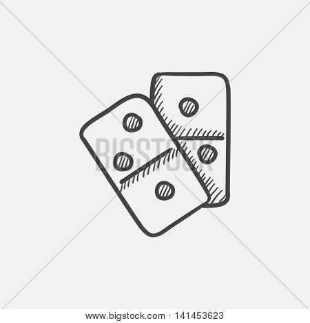 Domino sketch icon for web, mobile and infographics. Hand drawn vector isolated icon.