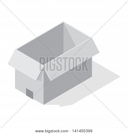 Move box service business vector illustration. Craft box isolated on white background. Box for moving, move business, relocation. Transportation package cargo service. Shopping delivery box