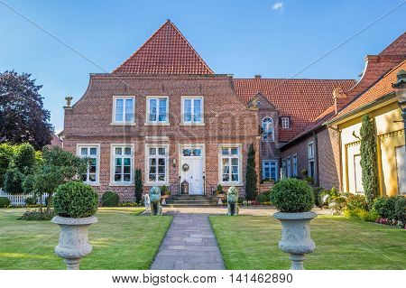 HASELUNNE, GERMANY - JULY 19, 2016: Historical mansion in the center of Haselunne, Germany