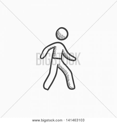 Pedestrianism vector sketch icon isolated on background. Hand drawn Pedestrianism icon. Pedestrianism sketch icon for infographic, website or app.