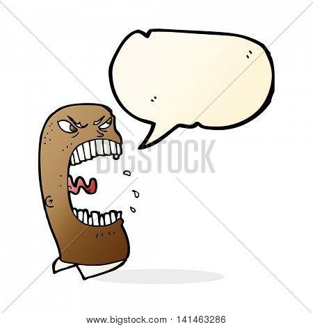cartoon furious man shouting with speech bubble