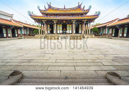 The Taipei Confucius Temple In Taiwan.