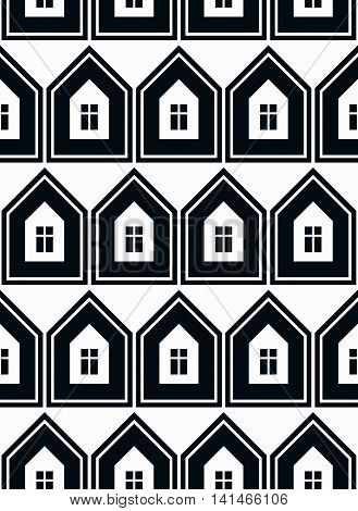 Simple houses vector continuous background real estate theme.