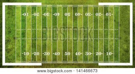 Aerial View Of American Football Field