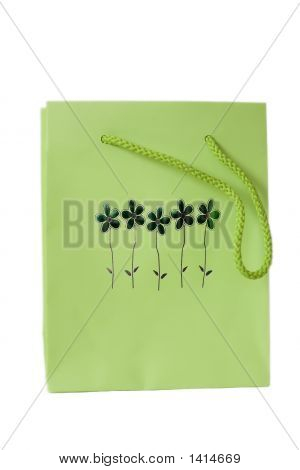 Green Present Bag
