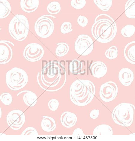 Seamless hand drawn irregular uneven pink and white texture, vector illustration
