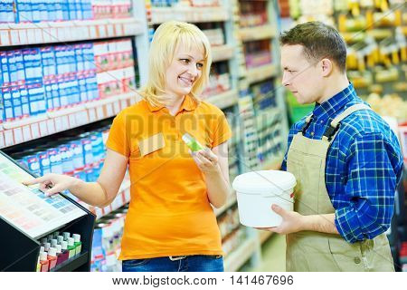 Hardwarer store worker or buyer
