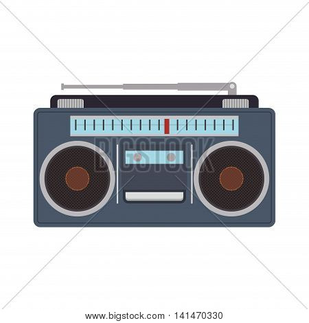 radio retro vintage music technology old icon. Isolated and flat illustration. Vector graphic