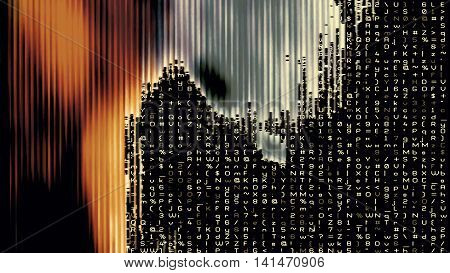 Streaming digital data abstraction 10945 from a series of futuristic tech imagery.