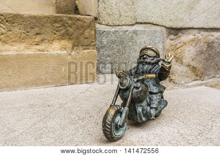 Dwarf On A Motorcycle.