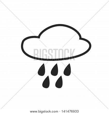 Rain intermittent. Hail. Drizzle shower. Weather forecast icon. Editable element. Creative item. Flat design graphic. Part of series of various symbols and signs for climate changes diagnostic. Vector