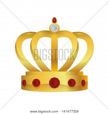 crown royalty king queen icon. Isolated and flat illustration. Vector graphic