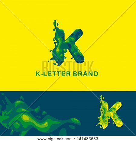 Creative logo for the company: liquid letter K