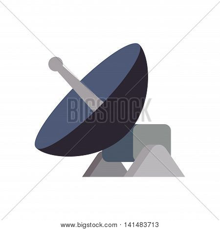 antenna signal internet global communication icon. Isolated and flat illustration. Vector graphic
