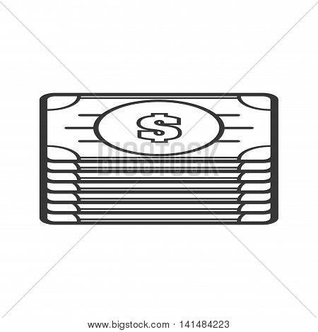 bills money financial item economy icon. Isolated and flat illustration. Vector graphic