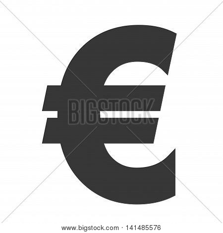 euro money financial item economy icon. Isolated and flat illustration. Vector graphic