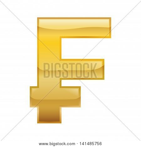 franc money financial item economy icon. Isolated and flat illustration. Vector graphic