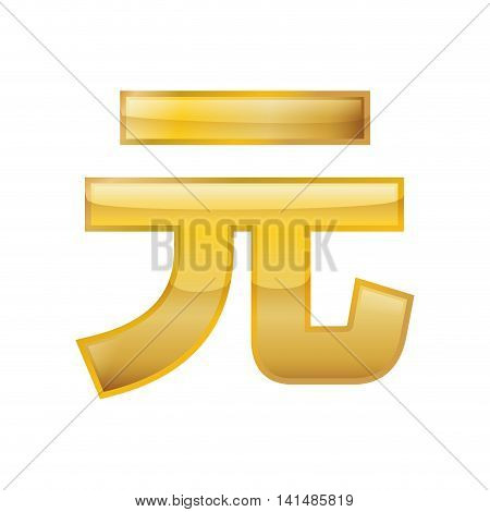 yuan money financial item economy icon. Isolated and flat illustration. Vector graphic