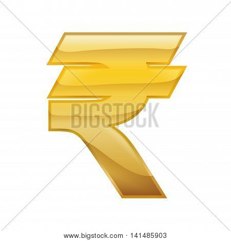rupee money financial item economy icon. Isolated and flat illustration. Vector graphic