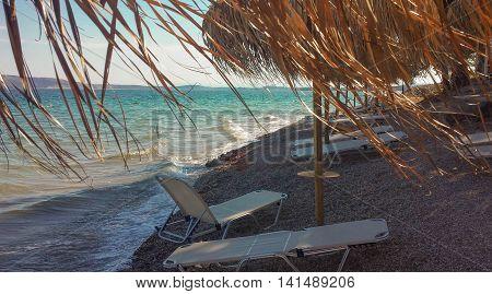 Nice, rocky Greek Beach in Attica, Greece