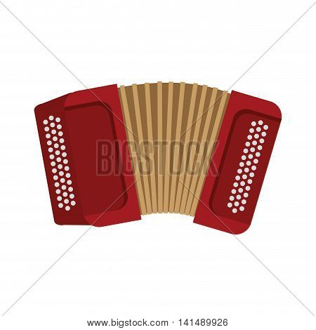 accordion instrument music sound icon. Isolated and flat illustration. Vector graphic