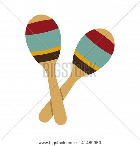 maraca instrument music sound icon. Isolated and flat illustration. Vector graphic