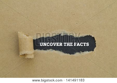 Uncover the facts written under torn paper