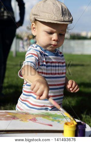 Kid Drawing Gouache
