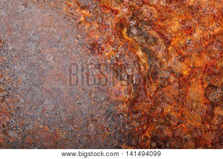Rusty Sheet Metal. Macro Background