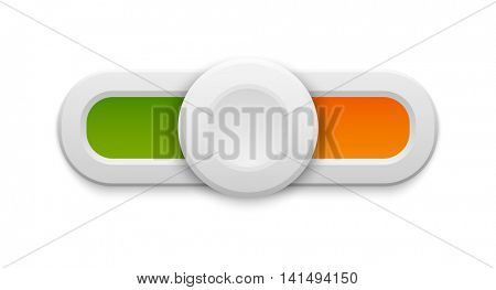 Slider button vector isolated