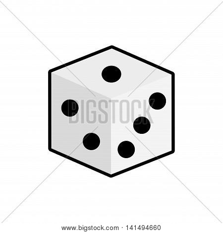 dice casino las vegas game lucky icon. Isolated and flat illustration. Vector graphic
