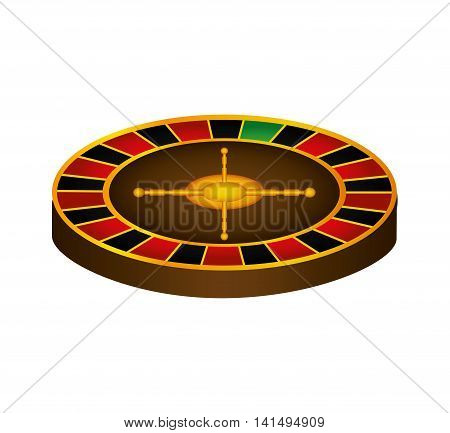 roulette casino las vegas game lucky icon. Isolated and flat illustration. Vector graphic