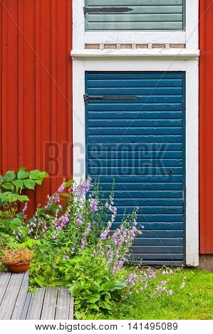 Porvoo, Finland. Old Traditional Finnish Architecture