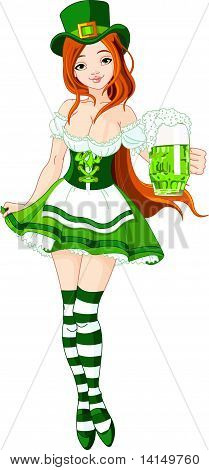 St. Patrick's Day girl