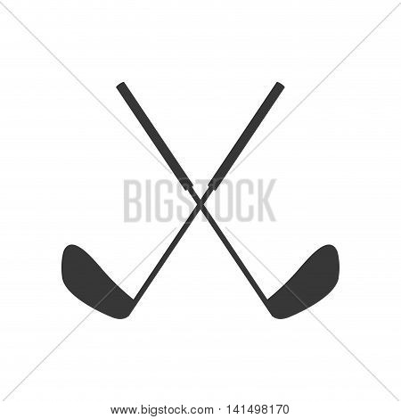 golf club sport hobby game icon. Isolated and flat illustration. Vector graphic