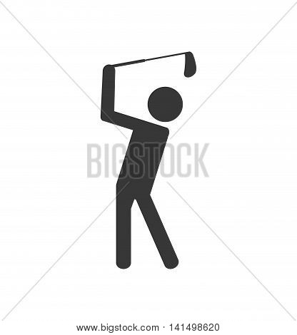 golf club pictogram sport hobby game icon. Isolated and flat illustration. Vector graphic