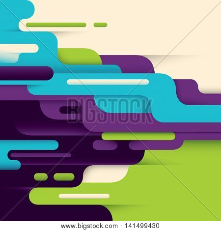 Colorful modern style abstract illustration. Vector illustration