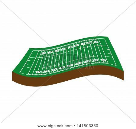 american football league sport game icon. Isolated and flat illustration. Vector graphic