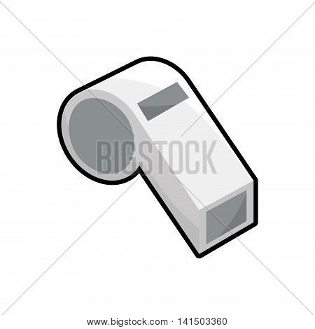 whistle trainer sport game icon. Isolated and flat illustration. Vector graphic