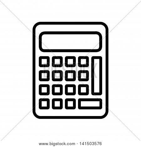 calculator math count school icon. Isolated and flat illustration. Vector graphic