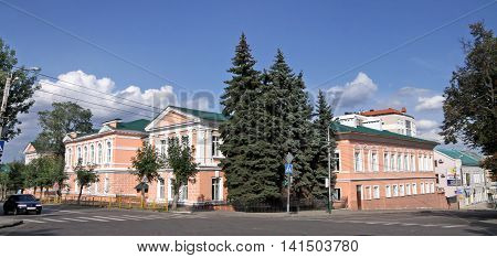PENZA RUSSIA - AUGUST 12 2012: School number 4 in Penza formerly the urban real school founded in 1882