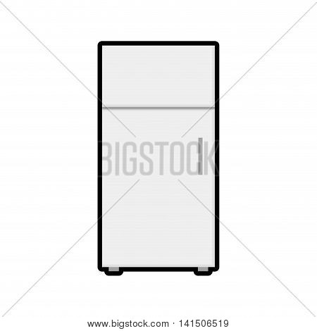 fridge house technology appliance icon. Isolated and flat illustration. Vector graphic