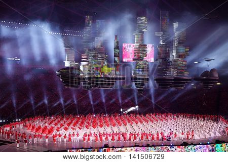 National Day Parade (ndp) Rehearsal 2016 In Singapore
